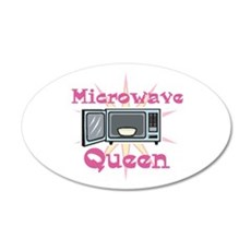 Microwave Queen 22x14 Oval Wall Peel