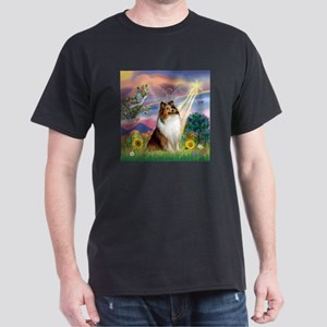 Cloud Angel Sheltie Dark T-Shirt