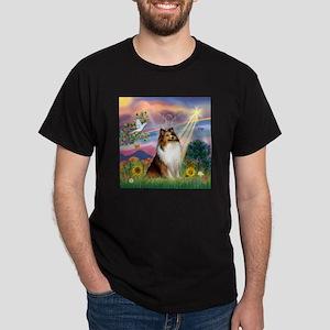 Cloud Angel Sheltie Dark T-Shirt