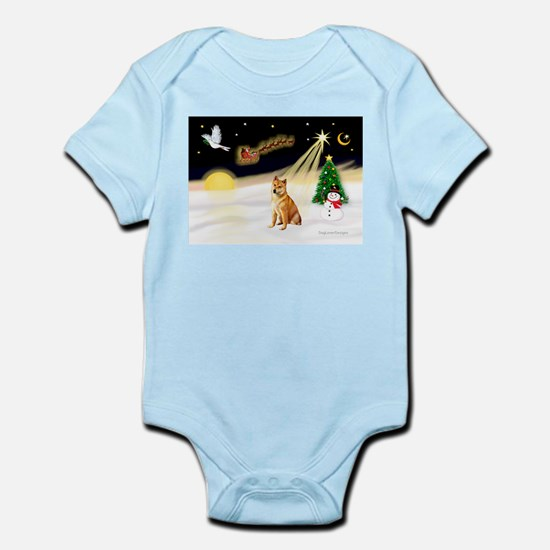 Night Flight/Shiba Inu #7 Infant Bodysuit