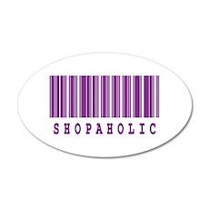 Shopaholic Barcode Design 22x14 Oval Wall Peel