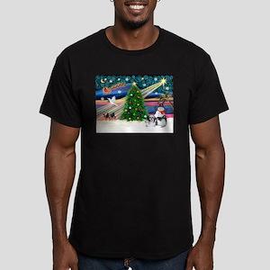 XmasMagic/Shih Tzu (11) Men's Fitted T-Shirt (dark