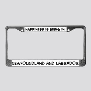 Happiness is Newfoundland And License Plate Frame