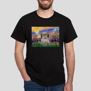 Guardian Angel & Shih Tzu Dark T-Shirt