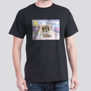 Angel Shih Tzu in Clouds Dark T-Shirt