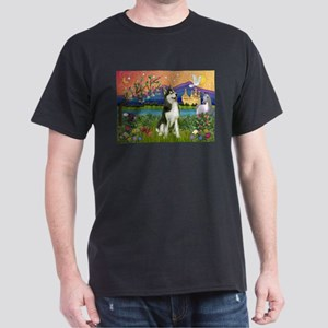 Siberian Husky Fantasyland Dark T-Shirt