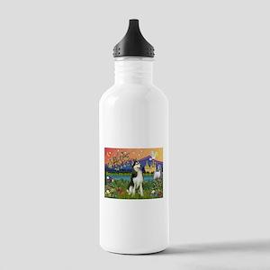 Siberian Husky Fantasyland Stainless Water Bottle