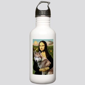 Mona & her Red Husky Stainless Water Bottle 1.0L