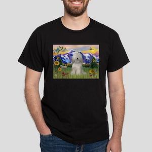 Tibetan Terrier in Mt. Countr Dark T-Shirt
