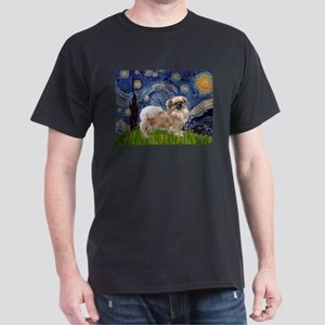 Starry / Tibetan Spaniel Dark T-Shirt