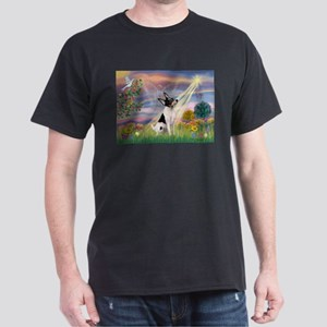 Cloud Angel & Toy Fox Terrier Dark T-Shirt