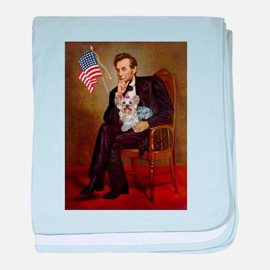 Lincoln & Yorkie baby blanket
