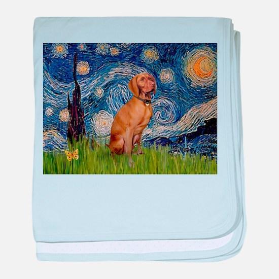 Starry Night & Vizsla baby blanket