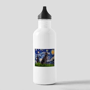 Starry Night Weimaraner Stainless Water Bottle 1.0