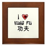 I Heart Kung Fu Framed Tile