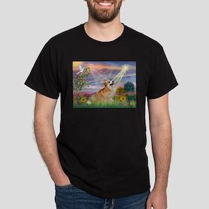 Cloud Angel Welsh Corgi Dark T-Shirt