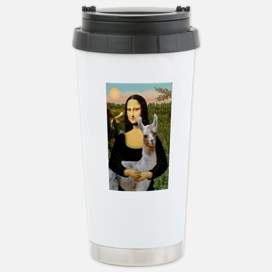 Mona's Baby Llama Stainless Steel Travel Mug