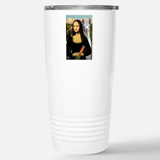 Mona Lisa's Llama Stainless Steel Travel Mug