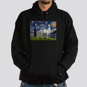 Starry Night Llama Duo Hoodie (dark)