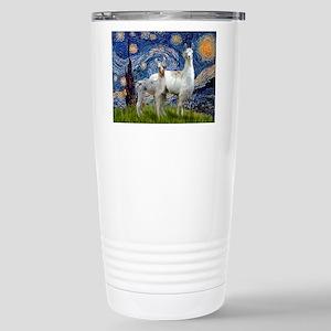 Starry Night Llama Duo Stainless Steel Travel Mug