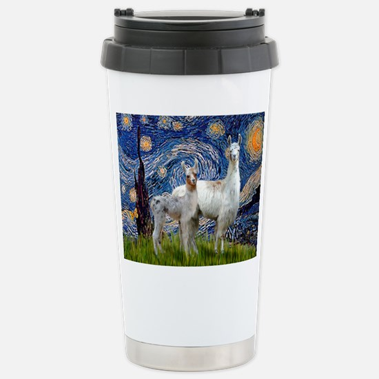 Starry Night Llama Duo Stainless Steel Travel Mug