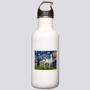 Starry Night Llama Duo Stainless Water Bottle 1.0L