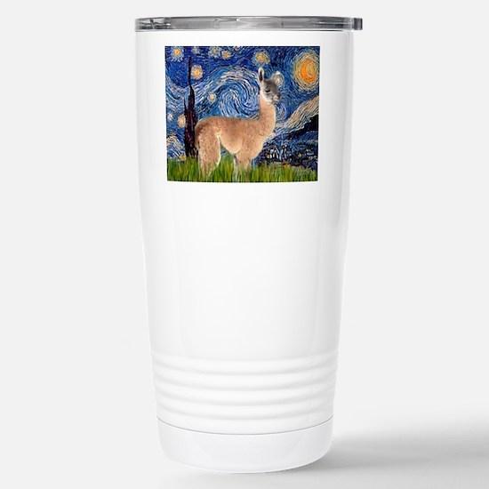 Starry Night Llama Stainless Steel Travel Mug