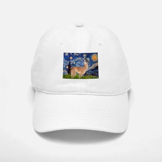 Starry Night Llama Baseball Baseball Cap