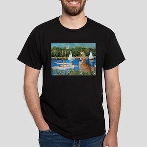 Monet's Sailboats Dark T-Shirt