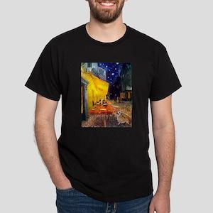 Terrace Cafe & Corgi (Pem) Dark T-Shirt