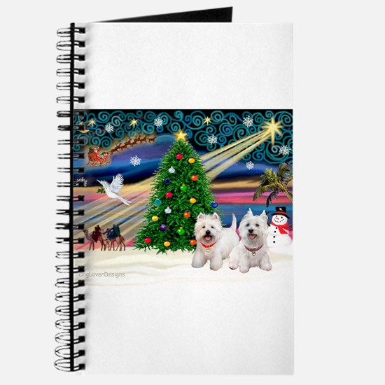 Xmas Magic & 2 Westies Journal