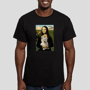 Mona Lisa & West Hightland Men's Fitted T-Shirt (d