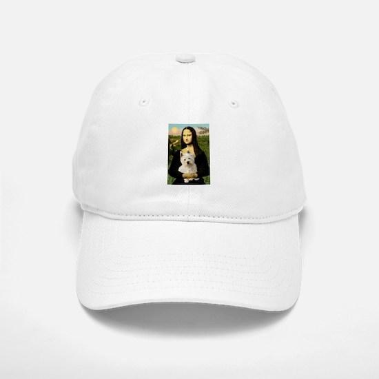 Mona Lisa & West Hightland Baseball Baseball Cap