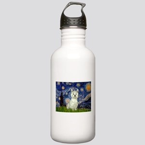 Starry Night Westie Stainless Water Bottle 1.0L