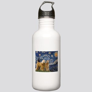 Starry Night & 2 Wheatens Stainless Water Bottle 1