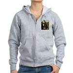 Mona's Therapy Dog (Lab-C) Women's Zip Hoodie