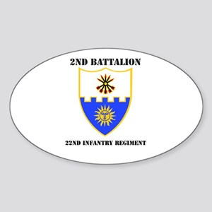 DUI - 2nd Bn - 22nd Infantry Regt with Text Sticke