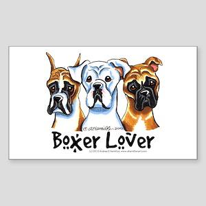 Boxer Lover Sticker (Rectangle)