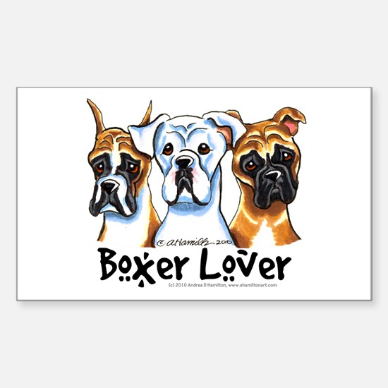 Boxer Lover Sticker (Rectangle)