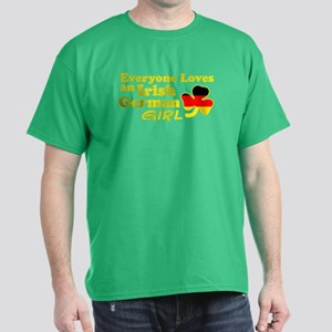 Irish German Girl Dark T-Shirt