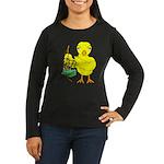 Bagpipe Chick Women's Long Sleeve Dark T-Shirt