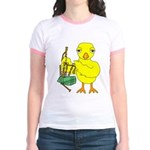 Bagpipe Chick Jr. Ringer T-Shirt