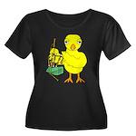 Bagpipe Women's Plus Size Scoop Neck Dark T-Shirt