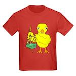 Bagpipe Chick Kids Dark T-Shirt