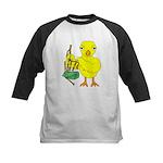 Bagpipe Chick Kids Baseball Tee