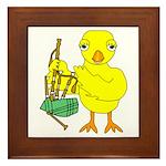 Bagpipe Chick Framed Tile