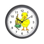 Bagpipe Chick Wall Clock