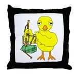 Bagpipe Chick Throw Pillow