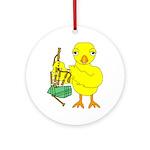 Bagpipe Chick Round Ornament