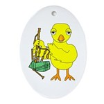 Bagpipe Chick Oval Ornament